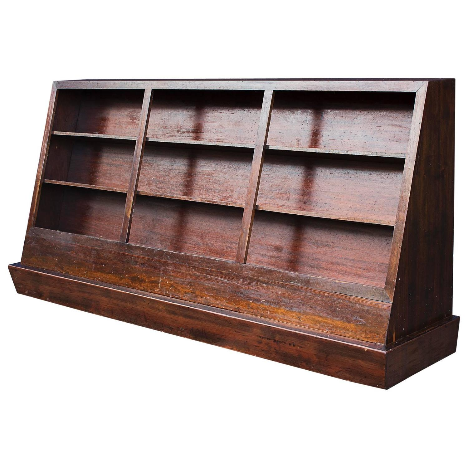 Marvelous photograph of Large Vintage Bookcase on Casters circa 1950s For Sale at 1stdibs with #965A35 color and 1500x1500 pixels