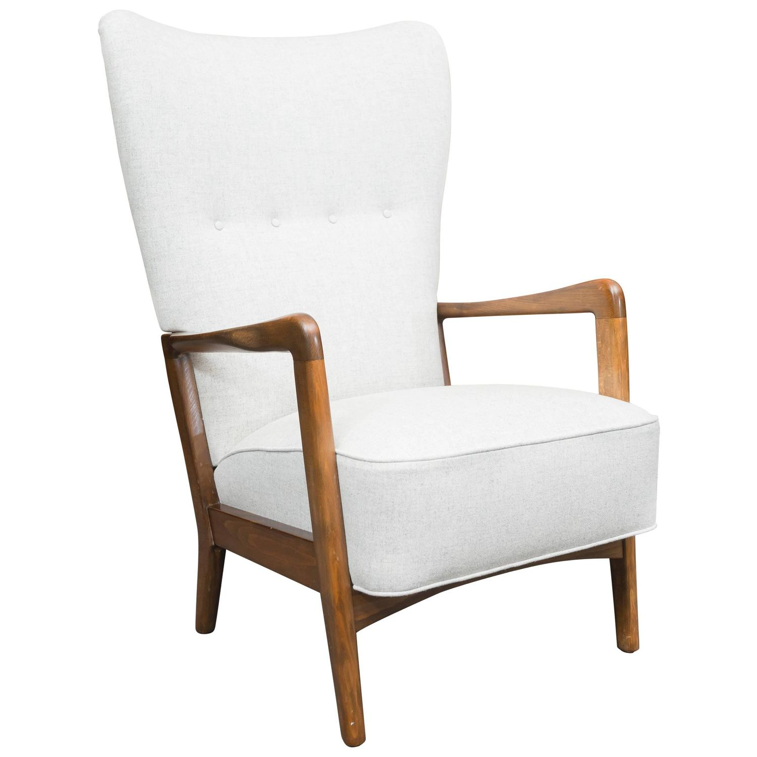 danish wing chair by soren hansen for fritz hansen