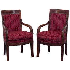 Pair of Armchairs Empire, France, 19th Century