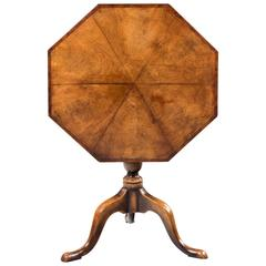 Late 19th Century Octagonal Mahogany Tilt Table