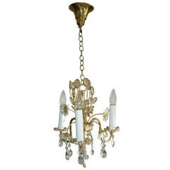 Petite Crystal Flowers Chandelier Palwa Germany