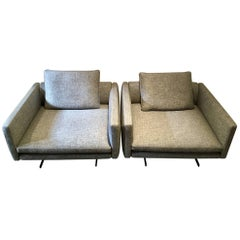 """Large Light Grey Armchair """"Moss"""" by Arketipo"""