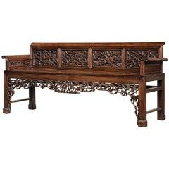 Mid-19th Century Chinese Hardwood Sofa