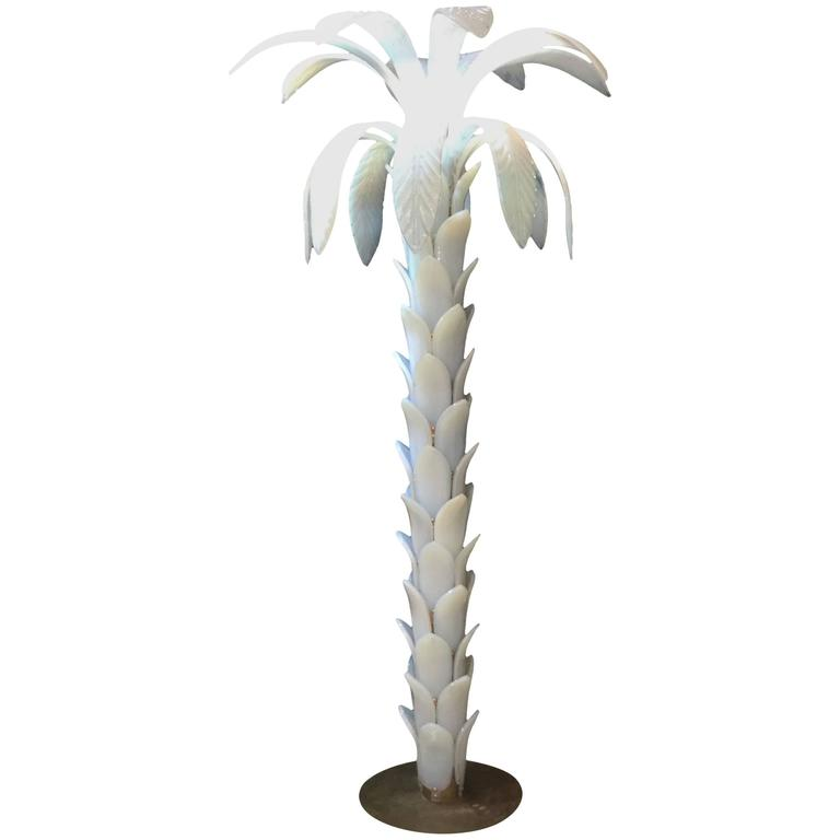 italian floor lamp in the shape of a palm tree circa 1966 for sale at. Black Bedroom Furniture Sets. Home Design Ideas