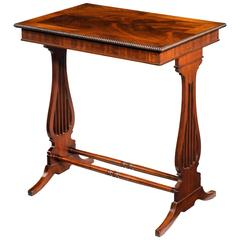 Regency Period Mahogany End Support Table