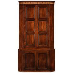 George III Period Mahogany Double Corner Cupboard