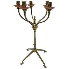 WAS Benson Arts and Crafts Standing Table Light
