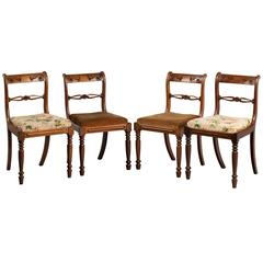 Set of Four Late Regency Period Mahogany Chairs