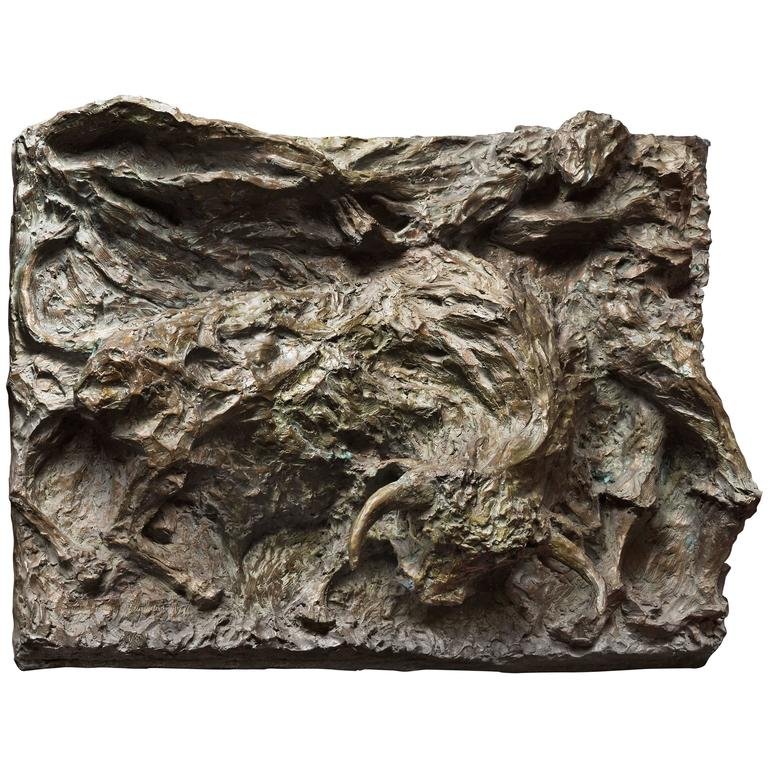 "Bronze Sculpture ""In the Arena"" by Magdalena Reinharez"