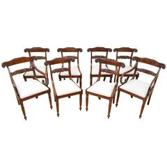 Exceptional Set of Eight William IV Dining Chairs