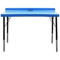 104 Desk in Fiberglass with Powder Coated Steel Legs and Grommet