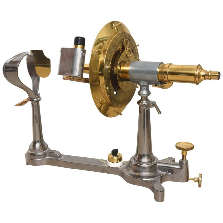 Restored Antique Brass and Iron Universal Ophthalmometer for Optician / Eye Dr For Sale