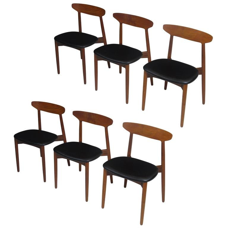 Harry Ostergaard Danish Teak Dining Chairs For Sale at 1stdibs