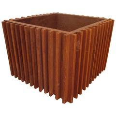 Architectural Cube Sculpture Planter