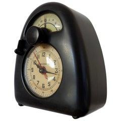 Original Design by Isamu Noguchi Measured Time Streamline Bakelite Desk Clock