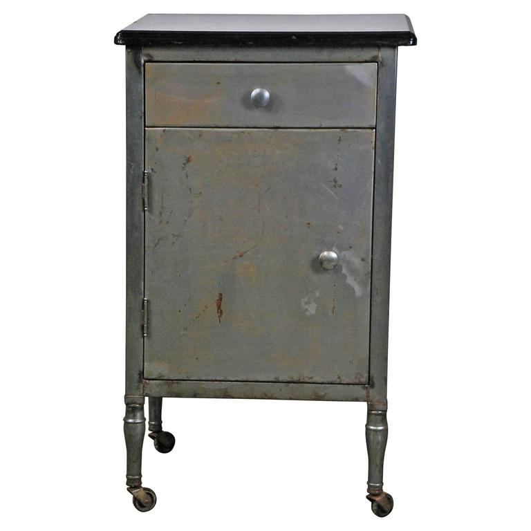 1930 Simmons Industrial Side Table/Cabinet For Sale