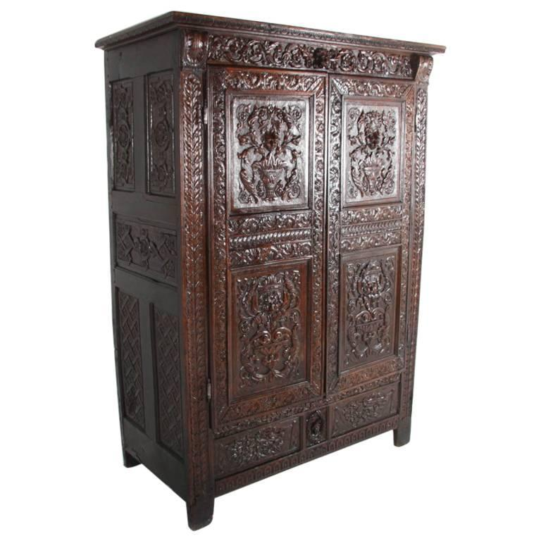 Lovely 19th Century French Antique Armoire For Sale