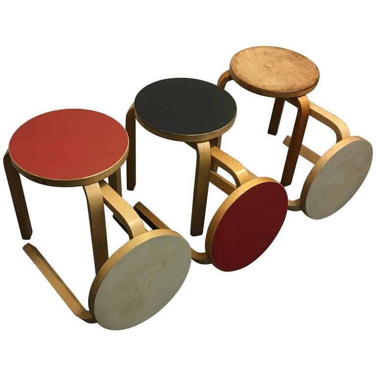 Six Alvar Aalto Stools For Sale At 1stdibs