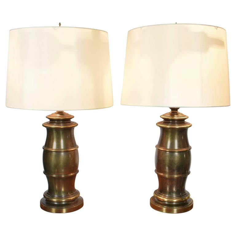 Vintage Stiffel Lamps >> Pair Of Brass Stiffel Lamps