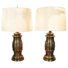 Pair of Brass Stiffel Lamps