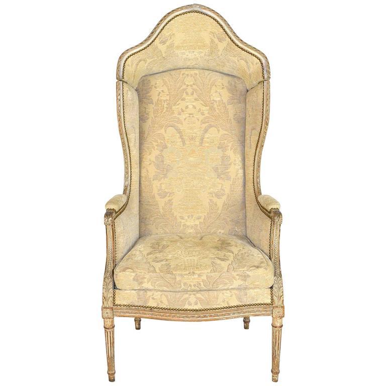 19th Century Louis XVI Style Hooded Butleru0027s Chair 1