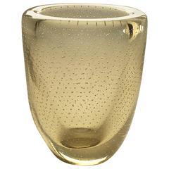 Seguso Bullicante Murano Glass Vase