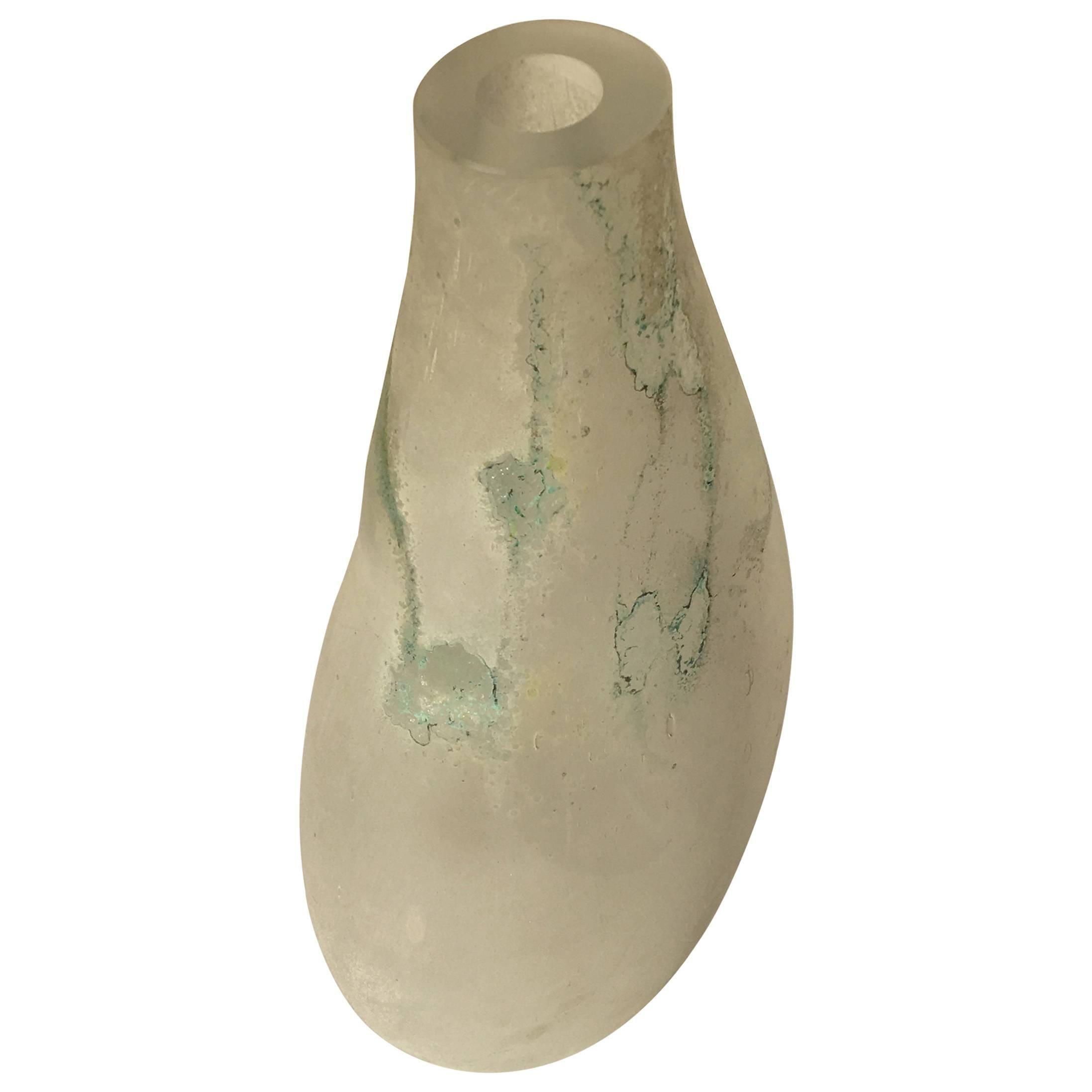 "Large Cenedese ""Scavo"" Murano Glass Vase"