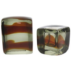 Vintage Murano Glass Bookends