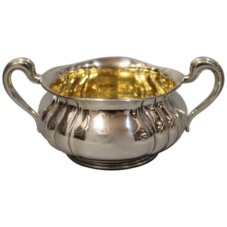 Small Sugar Bowl in Hallmarked Silver by P. Hertz