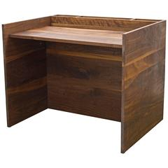 203 Desk in Solid Wood with Hand Oiled Finish, Minimalist Storage and False Wall