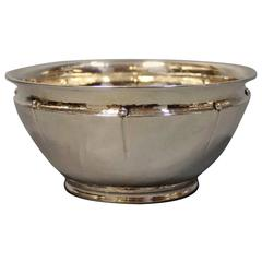 Small Bowl in Hallmarked Silver Stamped Aug. Thomsen and Christian Fr. Heise, 19