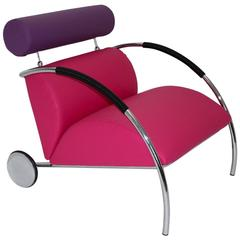 Pink and Violet Armchair Zyklus Chair by Peter Maly, 1980s, Germany