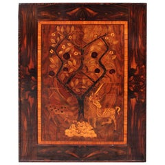 Art Deco Wood Inlaid Vintage Wall Decoration 1920s