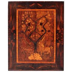 Art Deco Wooden Inlaid Vintage Wall Decoration 1920s