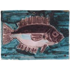 Albisola, Plate, Enameled Ceramic Signed, 1961, France
