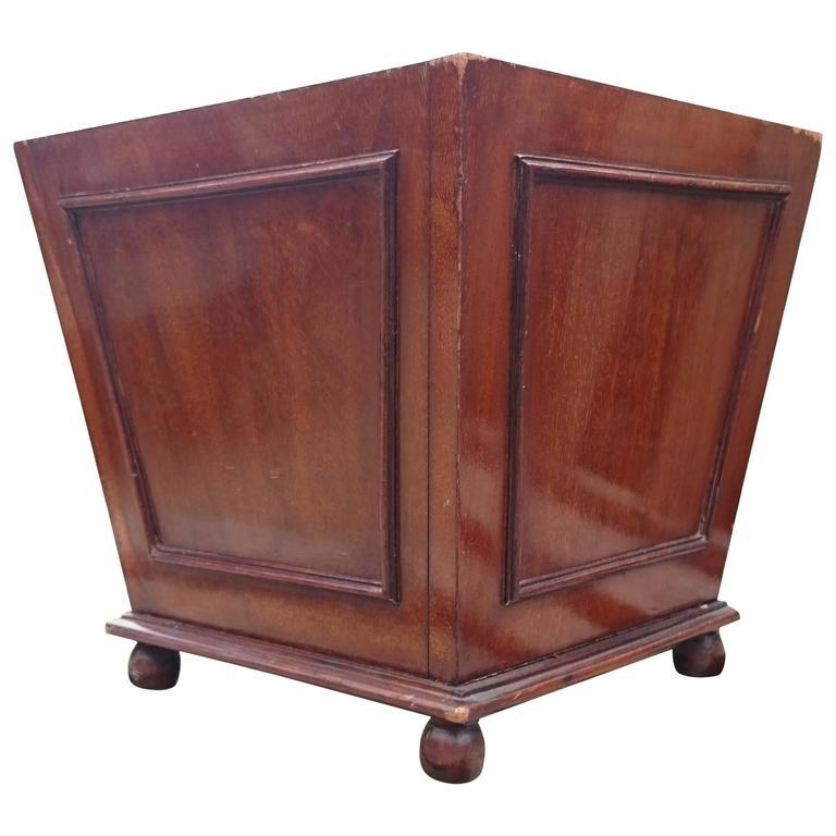 Antique Mahogany Coat Scuttle, Log Basket, Bin or Wine Cooler