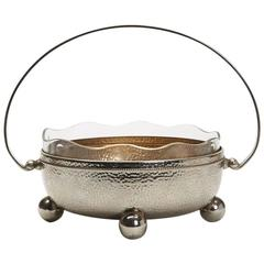 Art Nouveau WMF Silver Plated Handled Bowl, Early 20th Century