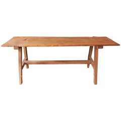19th Century Softwood Trestle Table