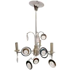 Sciolari Chromed Chandelier with Glass Drops