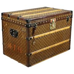 1930s Louis Vuitton Stencil Monogram Steamer Trunk