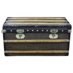 1910s Damier Steamer Trunk from the French Brand