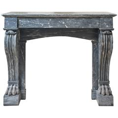 Fireplace in Grey Turquin Marble 19th Century Period