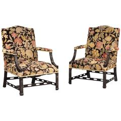 Pair of Early 20th Century Mahogany Gainsborough Chairs