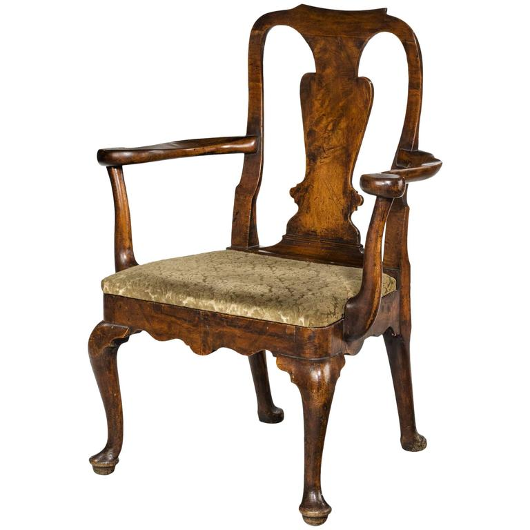 Early 18th Century Walnut Armchair