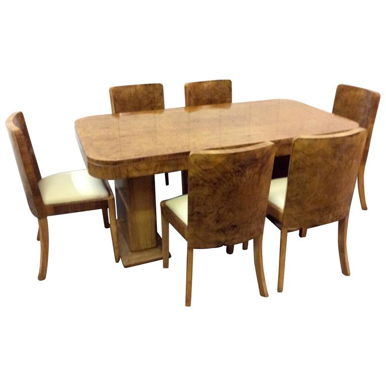 Art Deco Dining Room Sets: Harry And Lou Epstein Art Deco Dining Set At 1stdibs