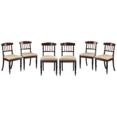Set of Six Regency Period Single Chairs