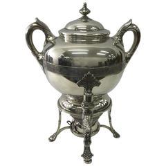 Tiffany & Co. Art Nouveau Samovar, Silver Plate