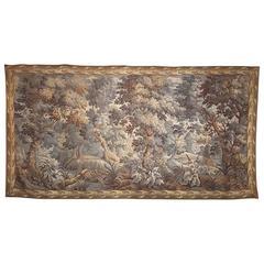 19th Century Handwoven Wool Flemish Tapestry