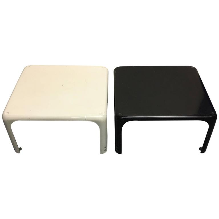 Pair Of Demetrio 45 Side Tables By Vico Magistretti For Artemide 1