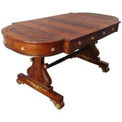 19th Century English Regency Rosewood Sofa Table Attributed to Gillows